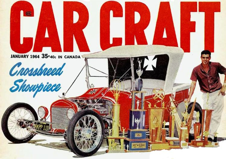 Joe Pirronello T-Bucket Car Craft January 1964