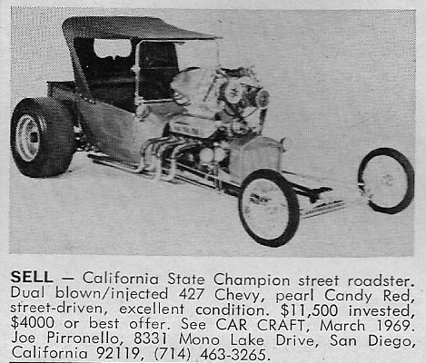 long wheelbase T Bucket Joe Pirronello All American