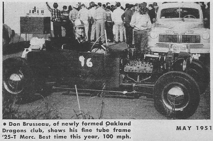 Don Brusseau T-Bucket Hot Rod May 1951