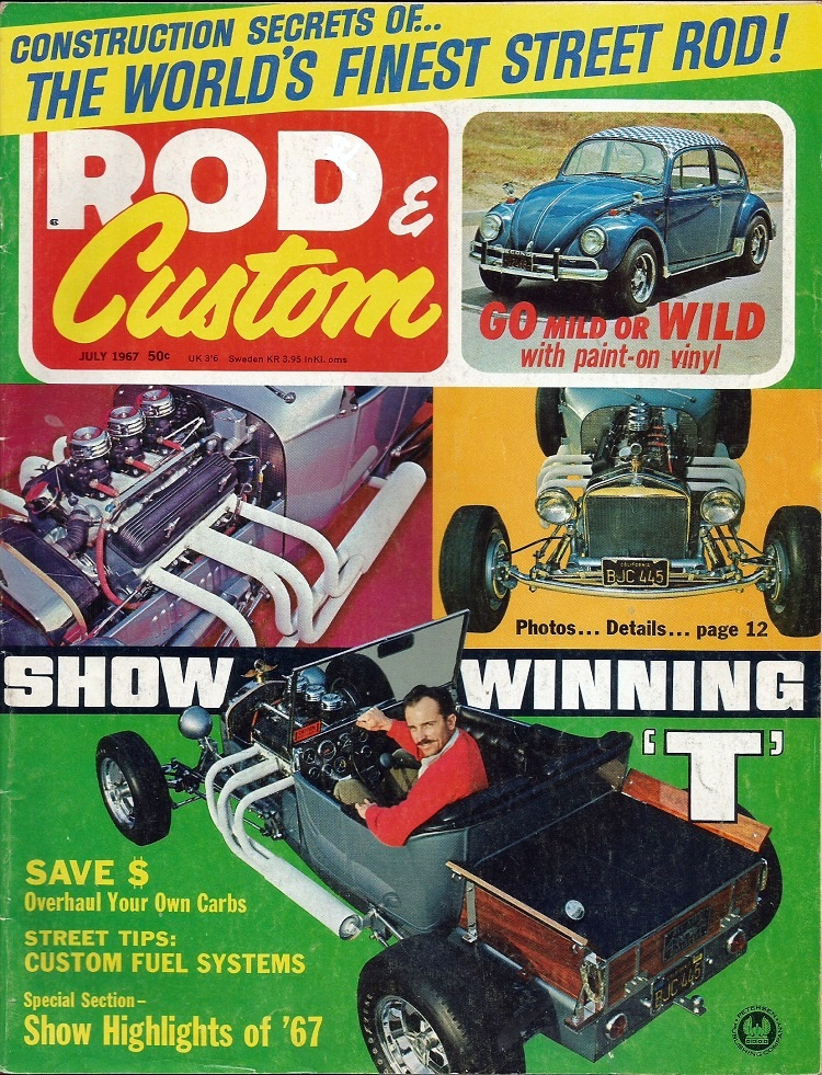 Don Brusseau T-Bucket Rod and Custom July 1967