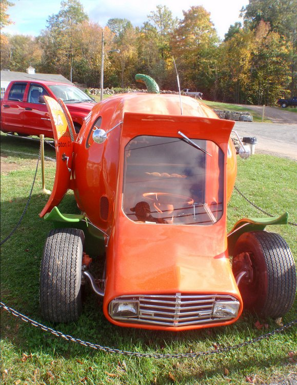 Halloween Hot Rod Pumpkin Car