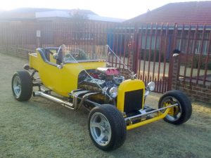 T-Bucket Steel Body Fabricated in South Africa and Built Using Chester's T-Bucket Plans