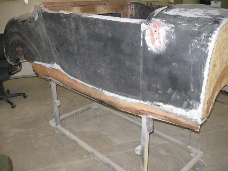 patching fiberglass bodies T-Bucket