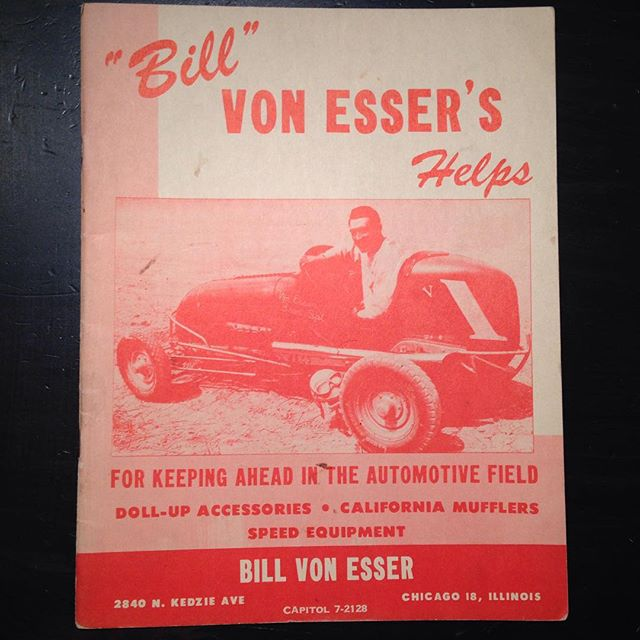 Bill Von Esser Speed Shop catalog 1949