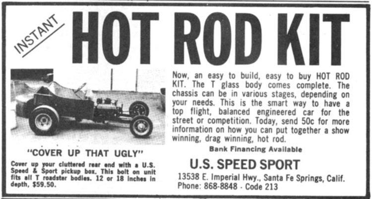 U.S. Speed Sport T-Bucket ad