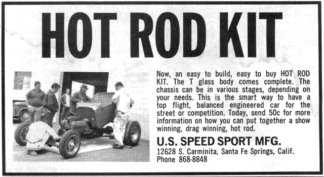 U. S. Speed Sport T-Bucket ad
