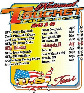 National T-Bucket Alliance 2016 Events Tour Schedule