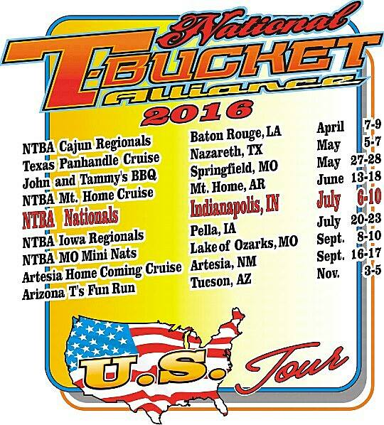 National T Bucket Alliance 2016 events