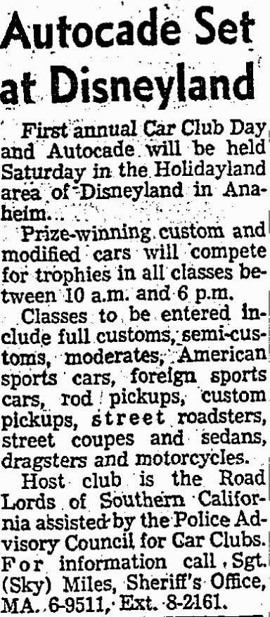 T-Bucket car show announcement 1959