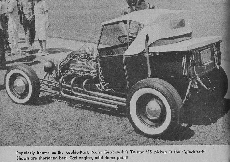 T-Bucket car show Norm Grabowski Kookie