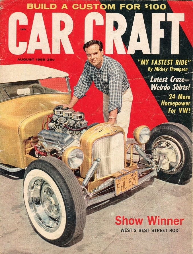 T-Bucket car show Ray Anderegg Car Craft August 1959