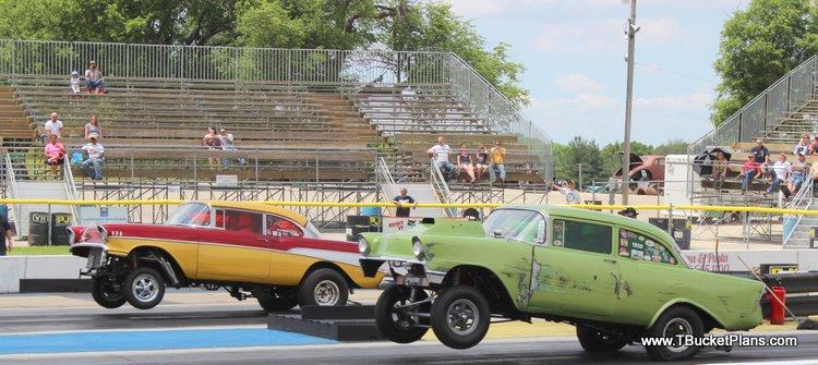 nostalgia drag racing Hunnert Car Heads Up Byron Dragway