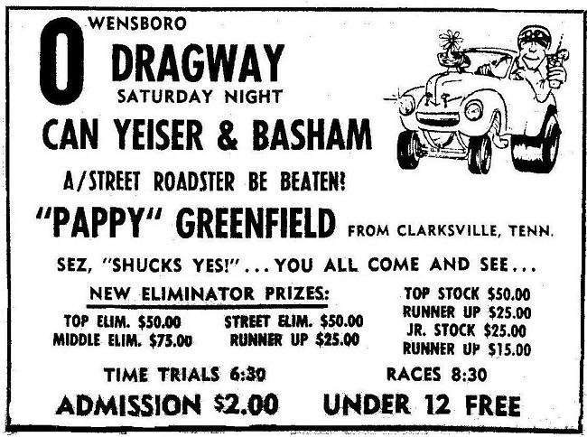 nostalgia drag racing Owensboro Dragway
