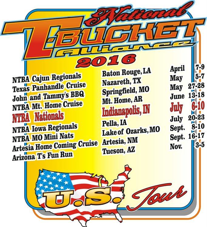 National T-Bucket Alliance 2016-Events-Schedule