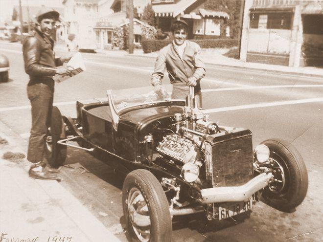 Blackie Gejeian 1926 T roadster circa 1947