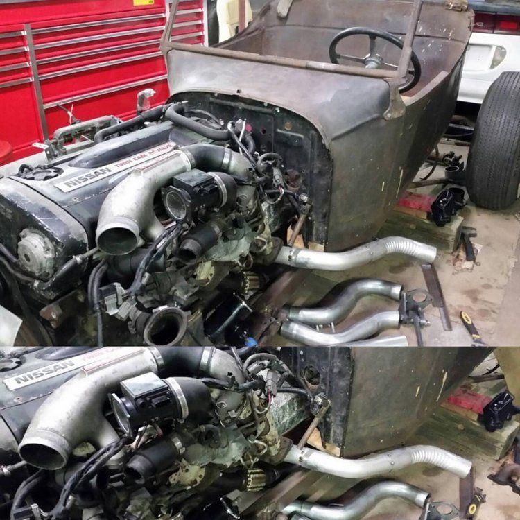 Nissan RB26 T-Bucket exhaust