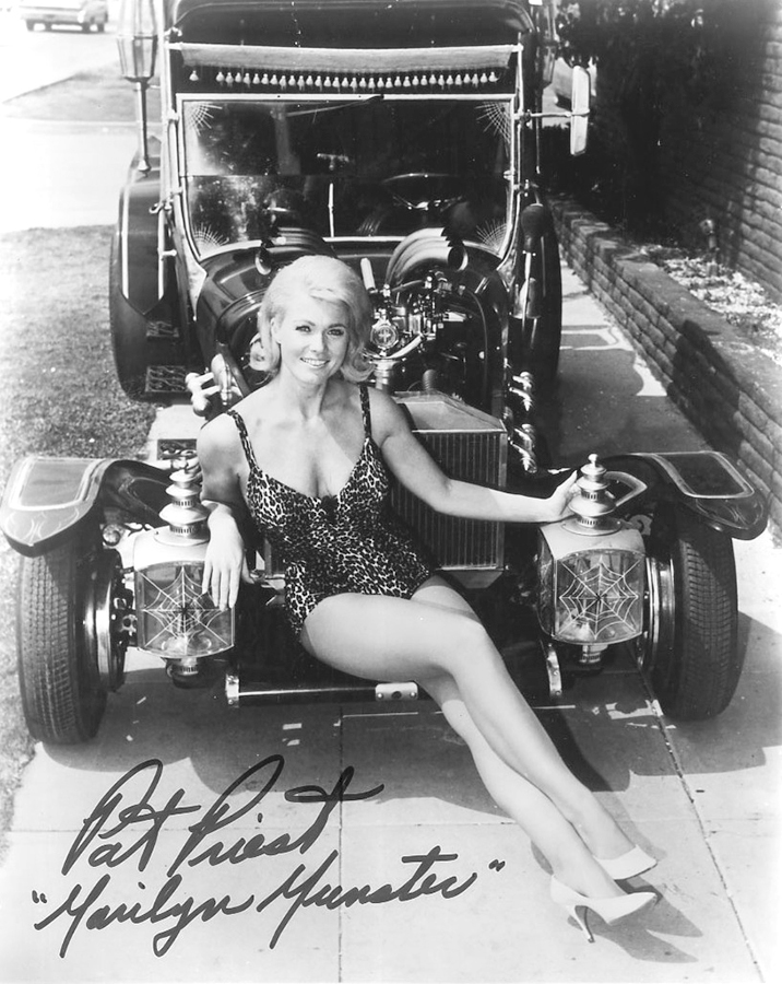 Munsters car Munster Coach Marilyn Pat Priest