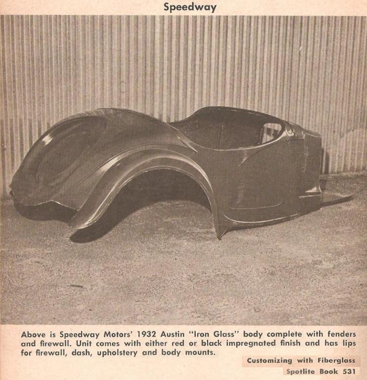 Speedway Motors 1932 Austin Bantam roadster body