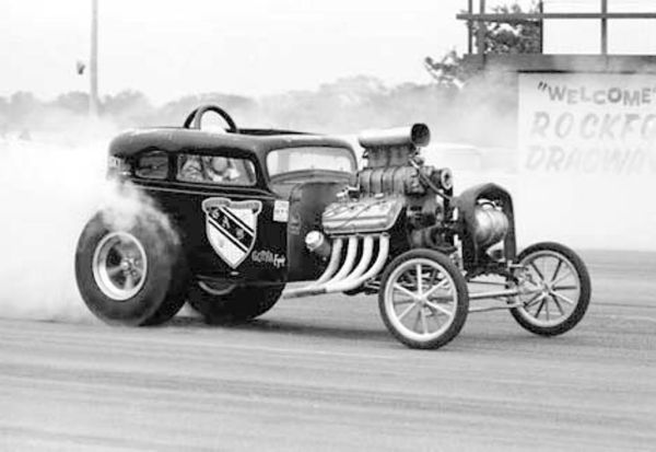 Gabby Bleeker American Austin Bantam fuel coupe