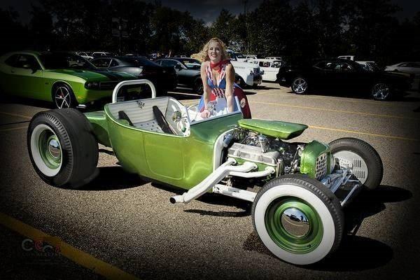 green T-Bucket Blaise Kendall built