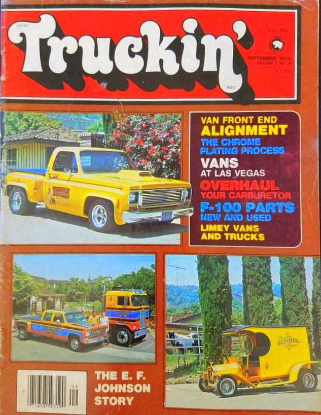 Butcher Truck Bob Reed Dan Woods C-Cab Truckin September 1976