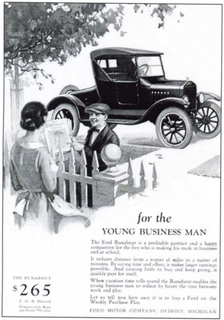 1924 Ford Model T Runabout Advertisement