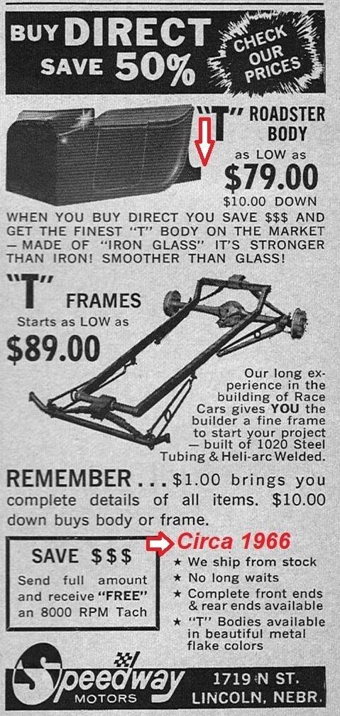 Speedway Motors T-Bucket body