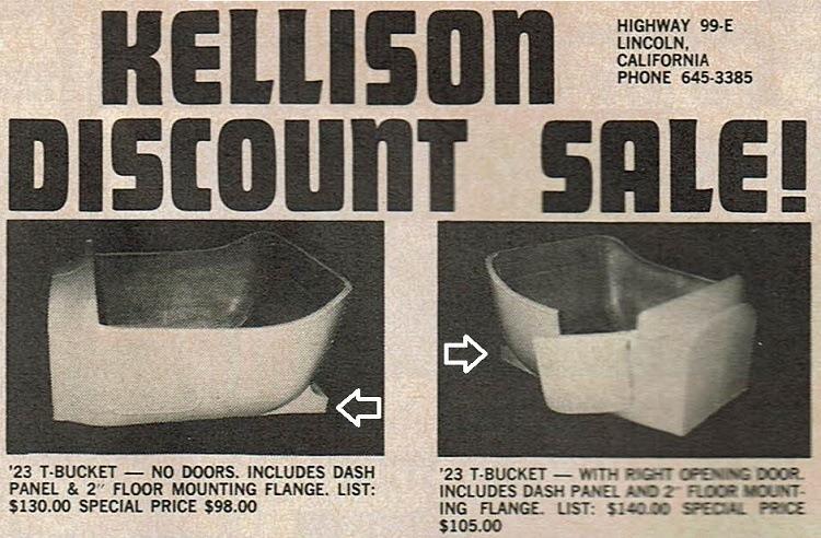 Kellison T-Bucket fiberglass body
