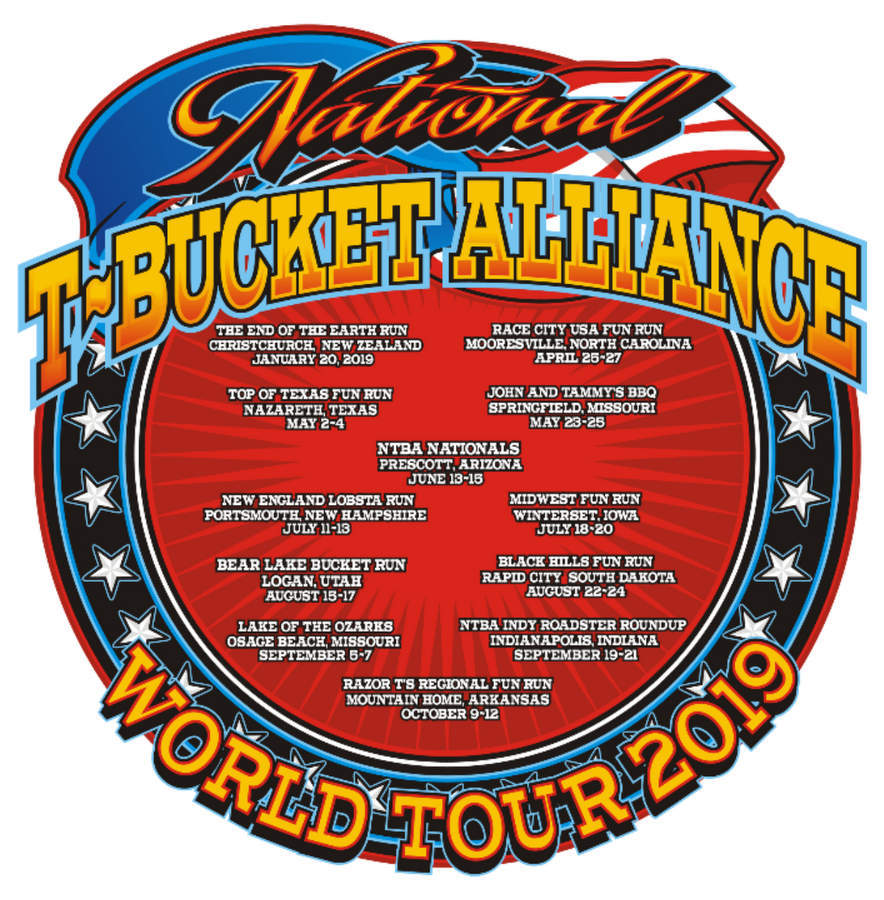 National T-Bucket Alliance 2019 events