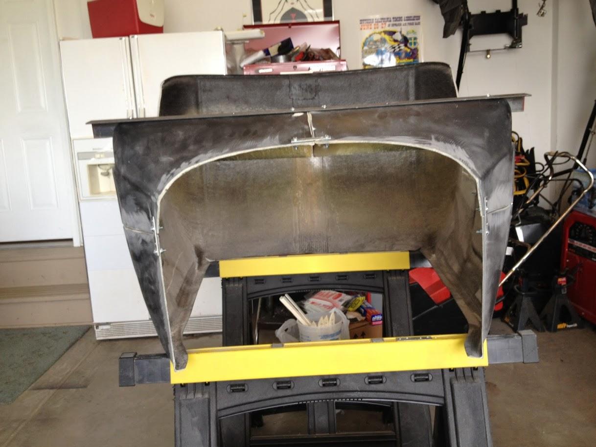 fix sagging T-Bucket cowl