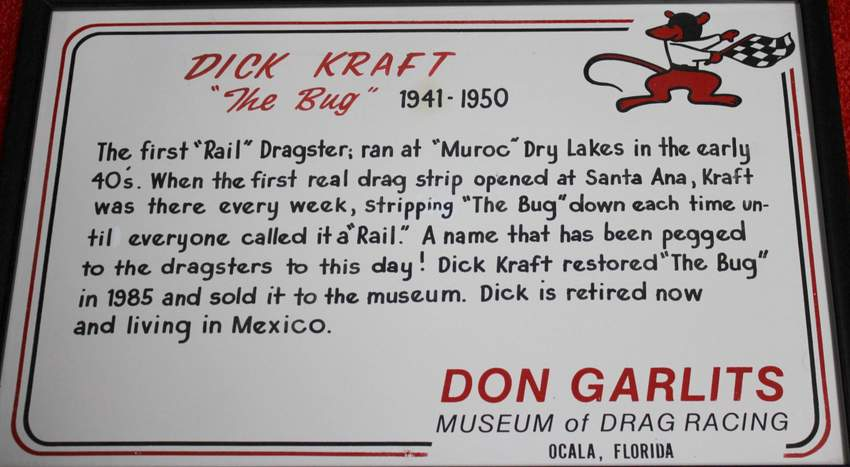First Rail Dragster Bug Dick Kraft