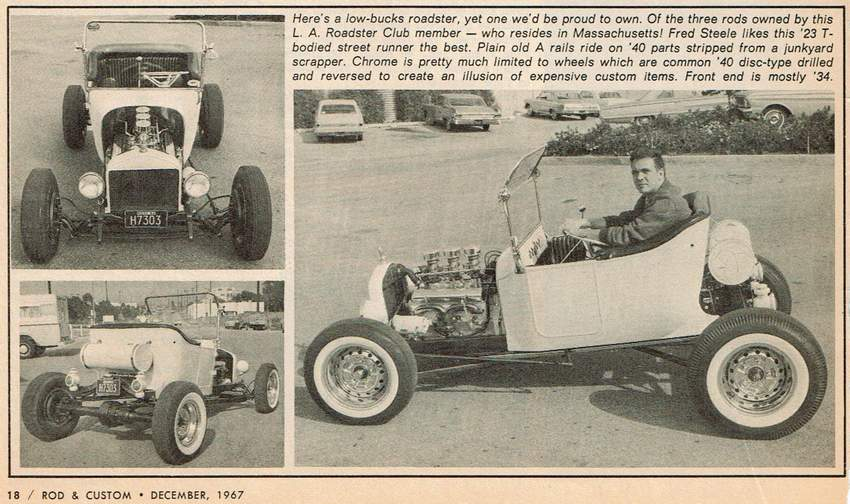 Fred Steele T-Bucket Rod Custom December 1967